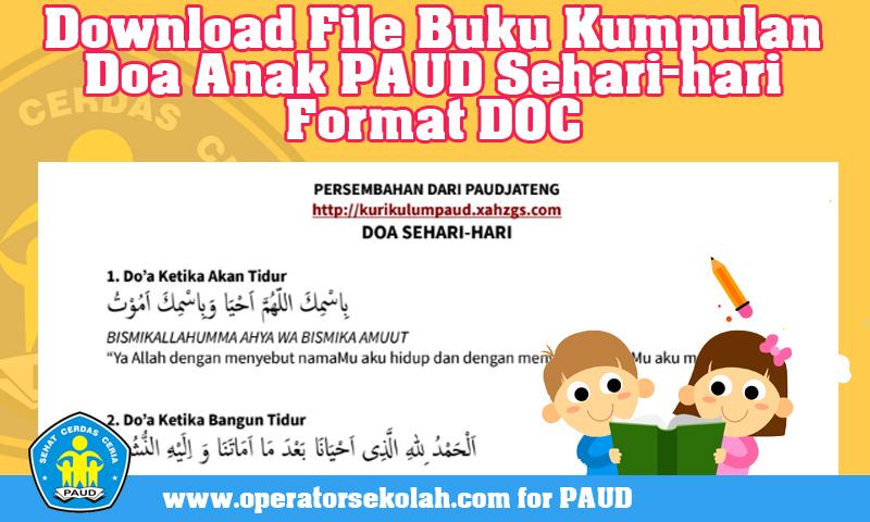 Download File Buku Kumpulan Doa Anak PAUD Sehari-hari Format DOC