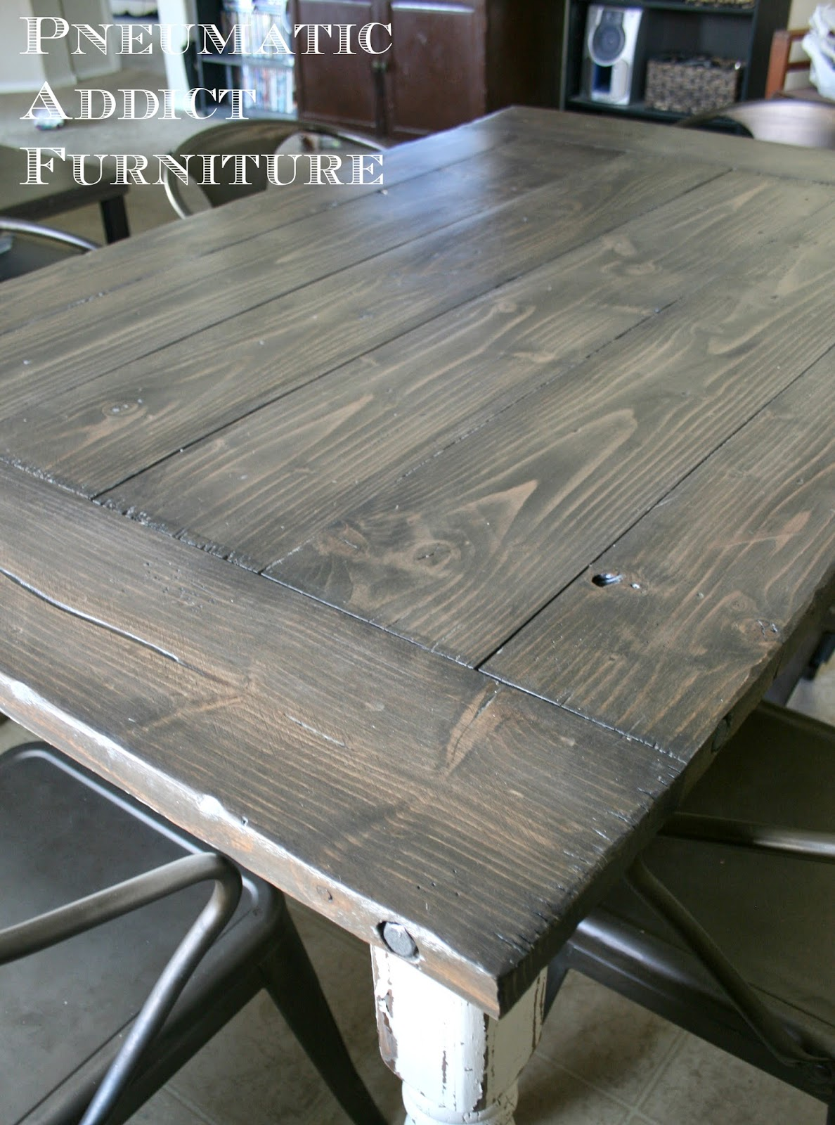 Industrial Farmhouse Table Pneumatic Addict