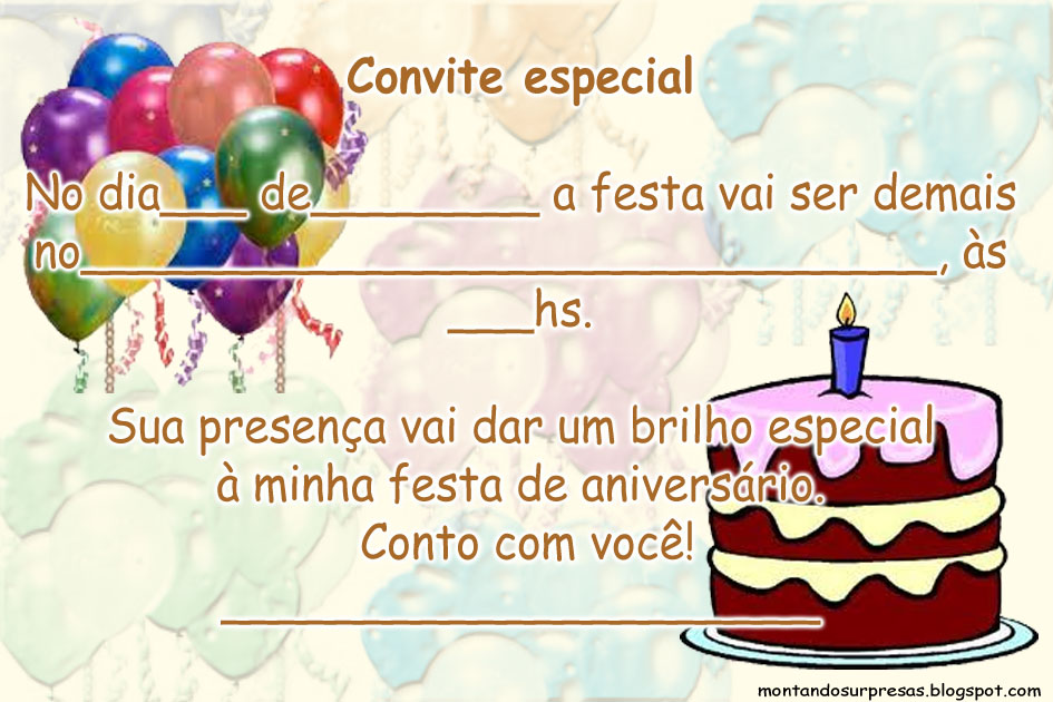 Convites Aniversario De 6 Anos: Frases Para Convite De Aniversario Adulto