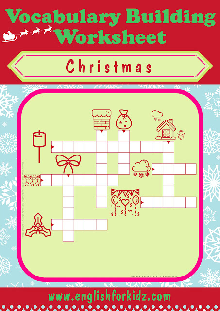 Christmas worksheet crossword puzzle