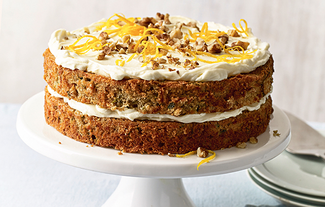 Courgette, Orange And Walnut Layer Cake