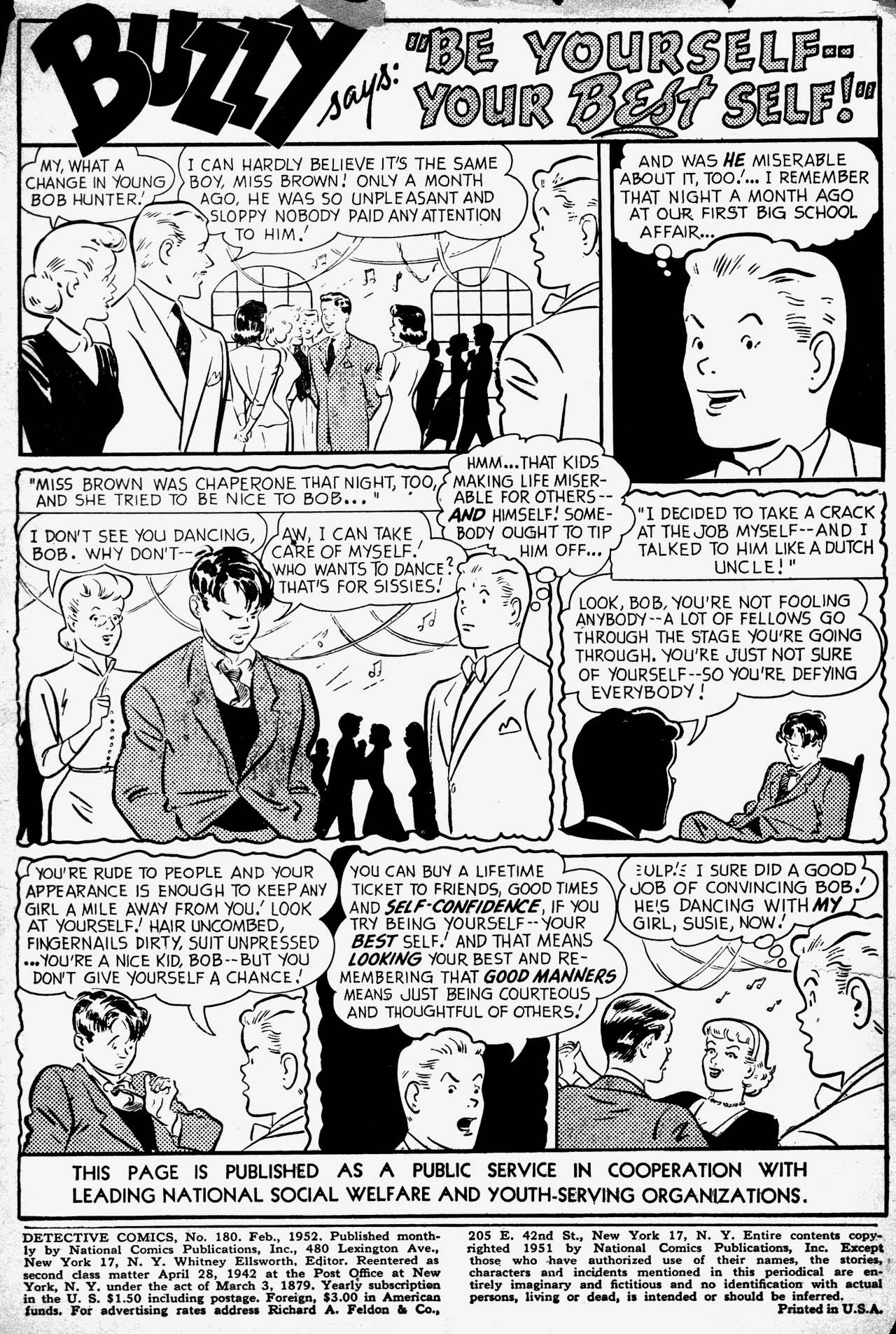 Detective Comics (1937) 180 Page 2