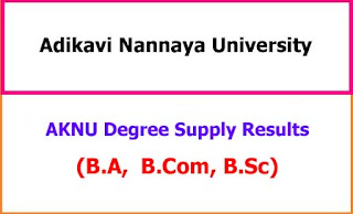 AKNU Degree Supply Results