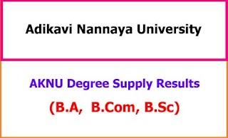AKNU Degree Supplementary Results 2021 - BA BCom BSc All Semester