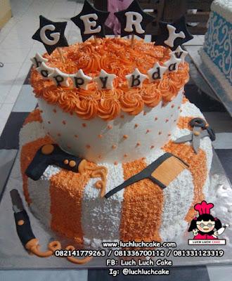 Kue Tart Ulang Tahun Tema Salon