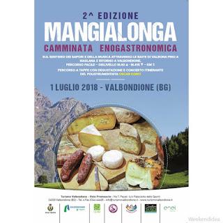 Mangialonga, torna il primo luglio a Valbondione (BG)