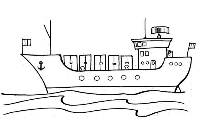 Desenho Para Colorir De Navio
