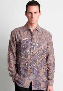 Model baju batik keris pria lengan panjang