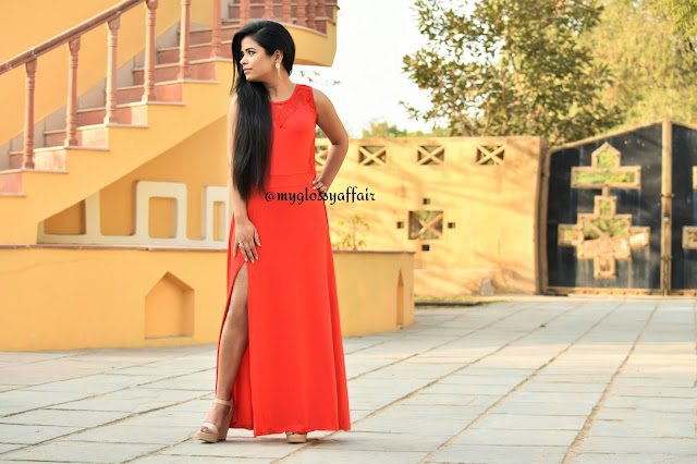 When in doubt, Wear Red - OOTD Long Maxi Dress