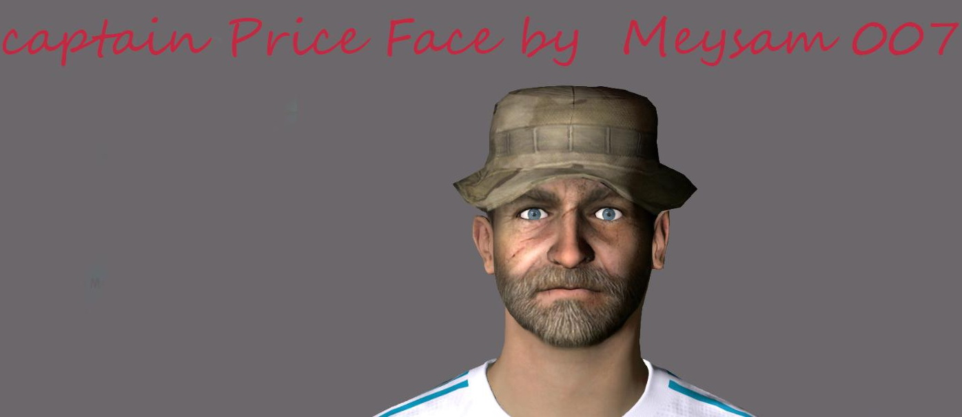 PES 2017 Capitan Price (Call of Duty) Face by meysam007