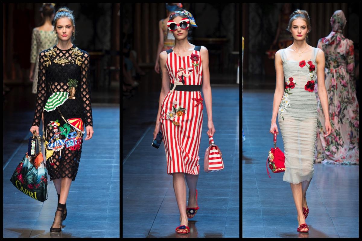 Dolce   Gabbana Primavera Estate 2016  viva l Italia (e i selfie)! - Le  Stanze della Moda 4331dc41d2b