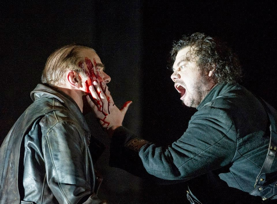 Jonathan Summers and Stuart Skelton in Verdi's Otello at English National Opera - photo Alastair Muir