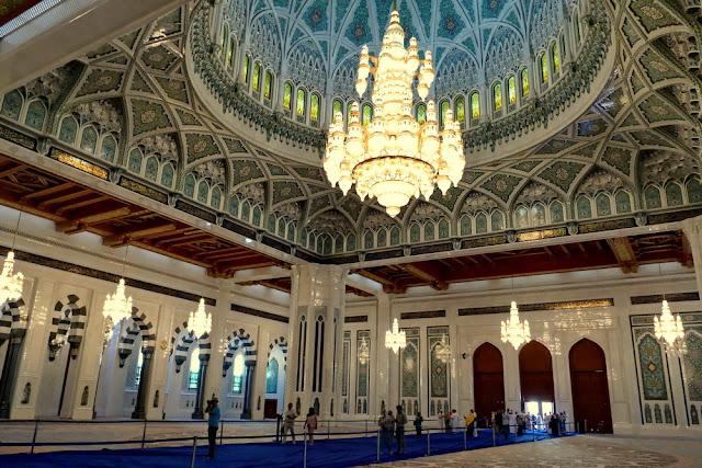 Sultan, Qabus, Moschee, Muscat, innen, Oman