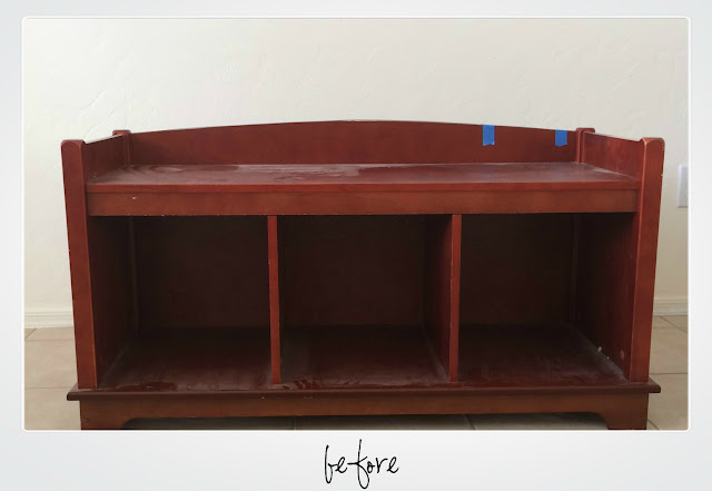 refinishing a bench, before, how to repair veneer, update a bench, diy