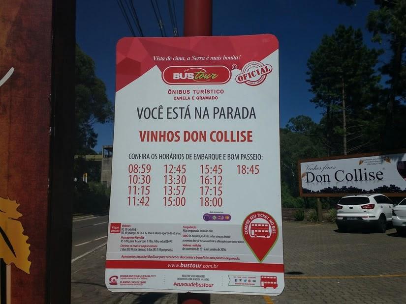Horários do BusTour em Gramado e Canela: ônibus turístico