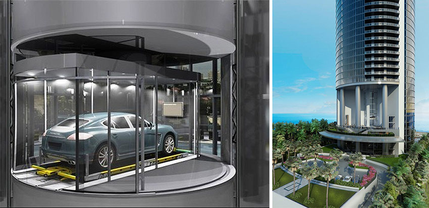The Condo Building Has An Enormous Robot Operated Gl Elevator That Would Literally Take You Up To Your Apartment While Are Seated In Car