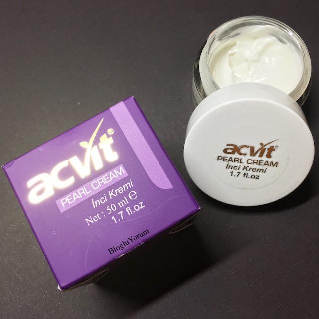 acvit cilt tonu renk açıcı inci kremi pearl cream incelemesi