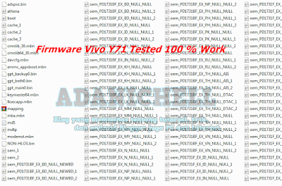 Firmware Vivo Y71 Tested 100 % Work