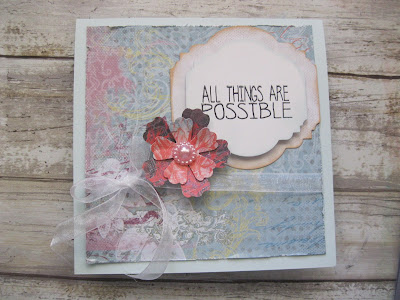 Quick Quotes Serenade Collection and PowderPuff Chalk Inks with Joy Clair Stamps designed by Kathi Mann
