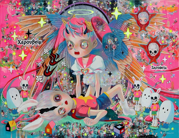 "obras de arte contemporaneo, pintura, pop art | ""Evolution of the Arbitrator"" by Hikari Shimoda"