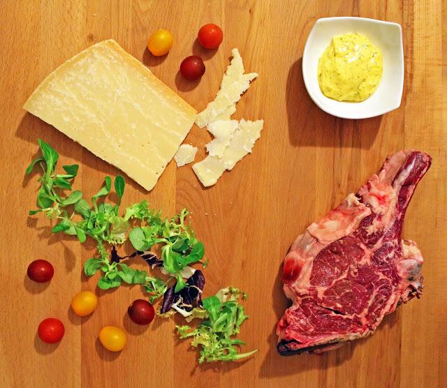 Μοσχαρίσια Σπαλομπριζόλα Ταλιάτα με Σαλάτα και Παρμεζάνα / Beef Italian Tagliata with salad and parmesan