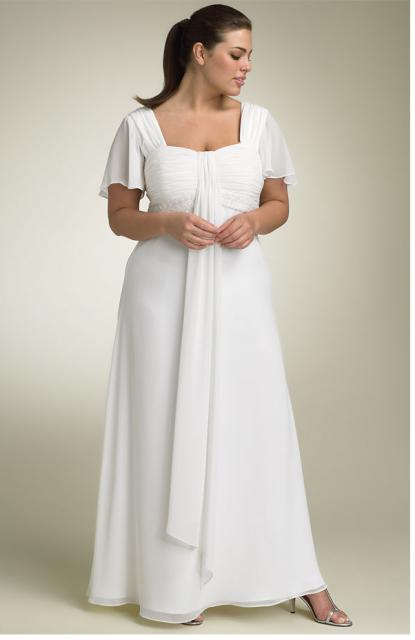 Chiffon Dress - Lace / Fit and Flare / Sleeveless