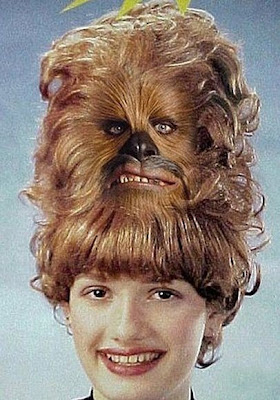 lustige Frauen Haare