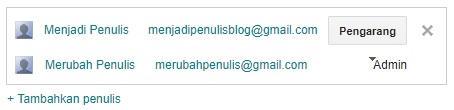 Undangan menjadi pengarang baru blog telah dikonfirmasi