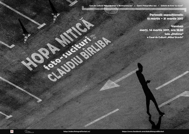 afiș al expoziției Hopa-Mitică