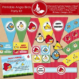 Birthday Blueprint Angry Birds Party
