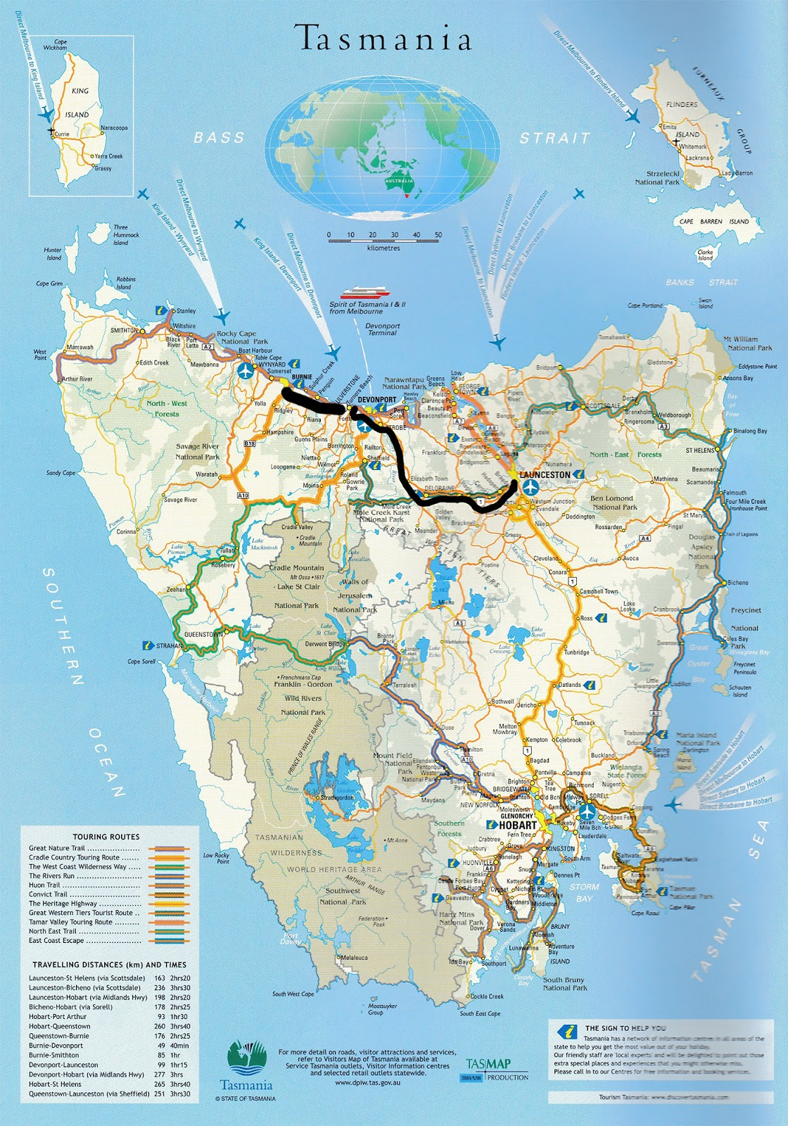 Forth river tasmania map pdf