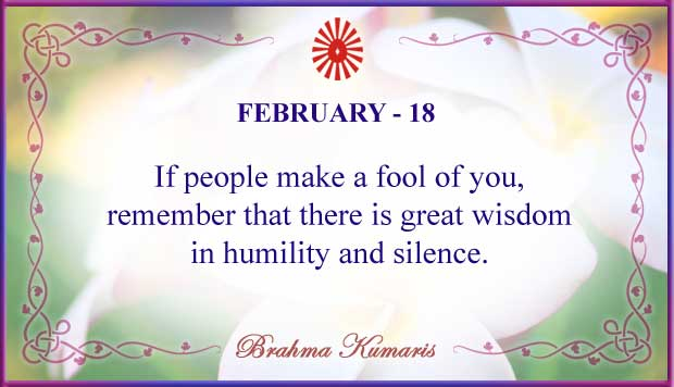 Thought For The Day February 18