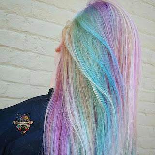 ไอเดียสีผม unicorn hair