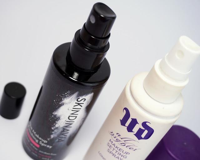 "Make-Up Fixing Spray: Skindinavia Makeup Finishing Spray ""Bridal"" vs. Urban Decay - All Nighter Long-Lasting Makeup Setting Sprays"