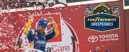 "Dale Jr. - The Goodyear ""Fan Favorite"" #NASCAR Sweepstakes"