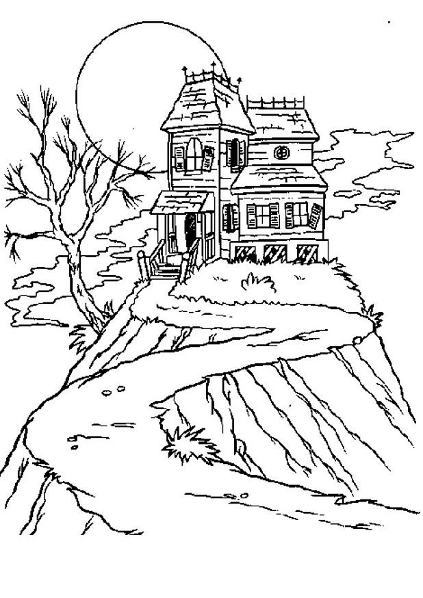 1st Grade Learning Stars Spooky Haunted House Part Two Halloween - dessin de maison a imprimer
