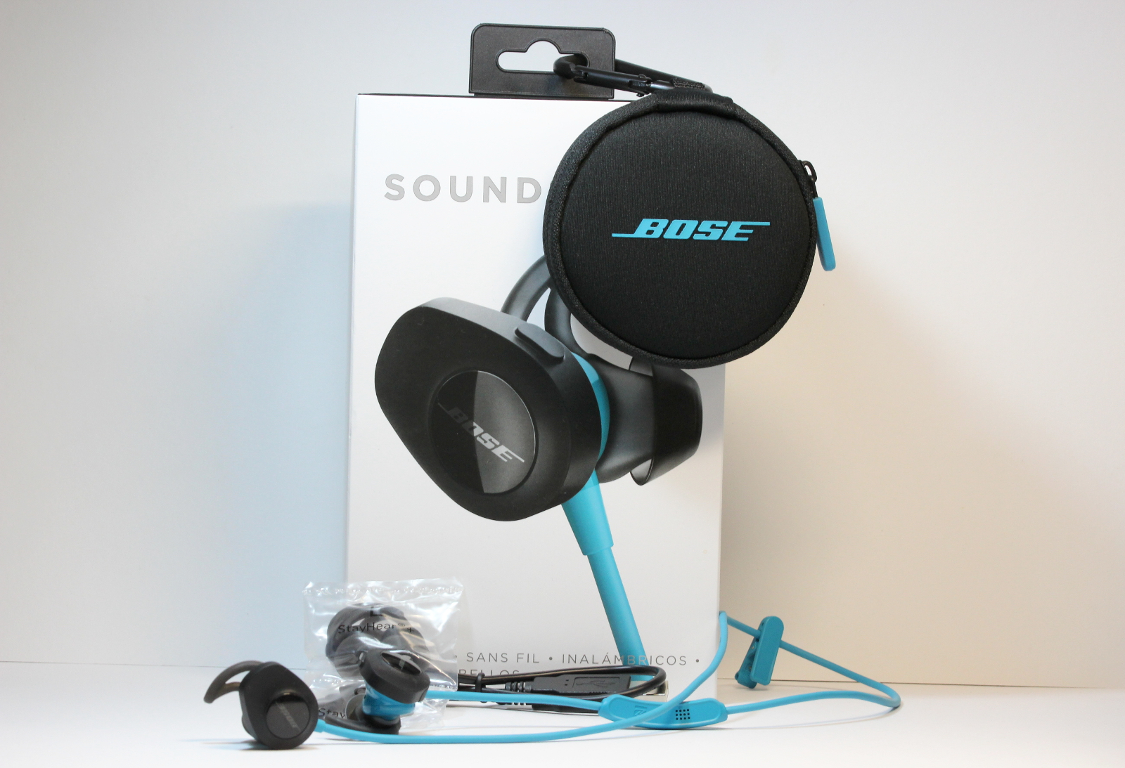 Lieferumfang des Bose SoundSport Wireless