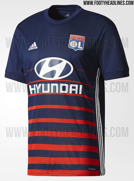 quality design 41eec d27e2 Olympique Lyon 17-18 Away Kit Released - Footy Headlines