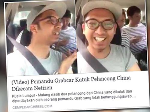 PADAH !! Pemandu Grab Car Yang Menghina Penumpang Warga Asing Ditamatkan Perkhidmatan dan Di'blaclist'