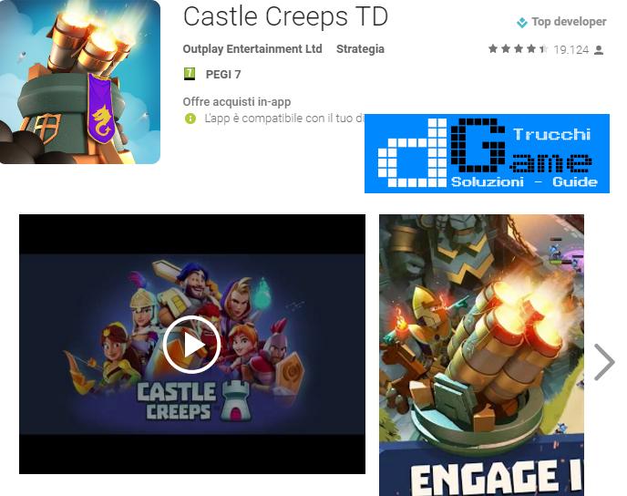 Trucchi Castle Creeps TD Mod Apk Android v1.7.1