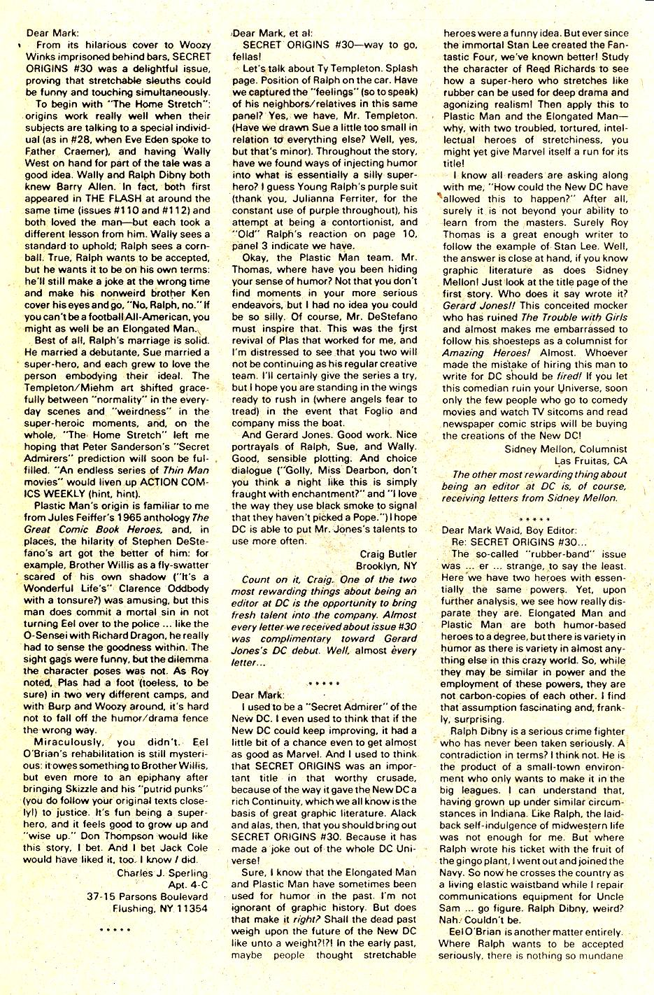 Read online Secret Origins (1986) comic -  Issue #35 - 18
