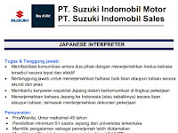 Lowongan Kerja PT. Suzuki Indomobil Motor Desember 2016