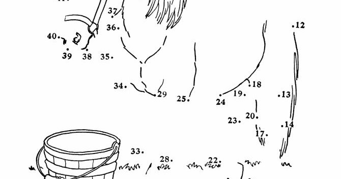 Printable Coloring Pages: Horse Dot to Dots Pages