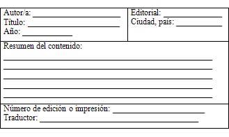 fanamana =p: Fichas bibliograficas
