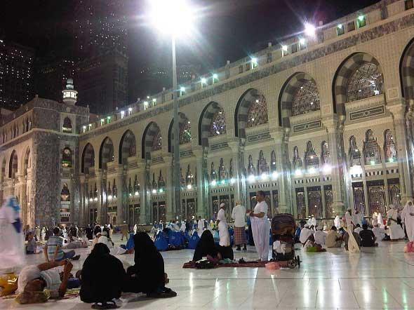 Suasana keramaian di kota Makkah