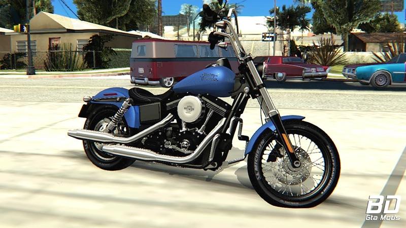 Download , mod, moto, Harley-Davidson FXDB, Dyna Street Bob 2017, GTA San Andreas