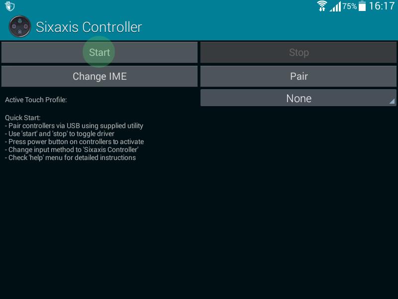 Start Sixaxis Controller