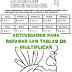 Actividades para practicar las tablas de multiplicar
