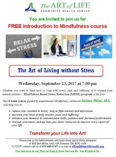 Mindfulness-Based Stress Reduction Program, The Art of Life CHC