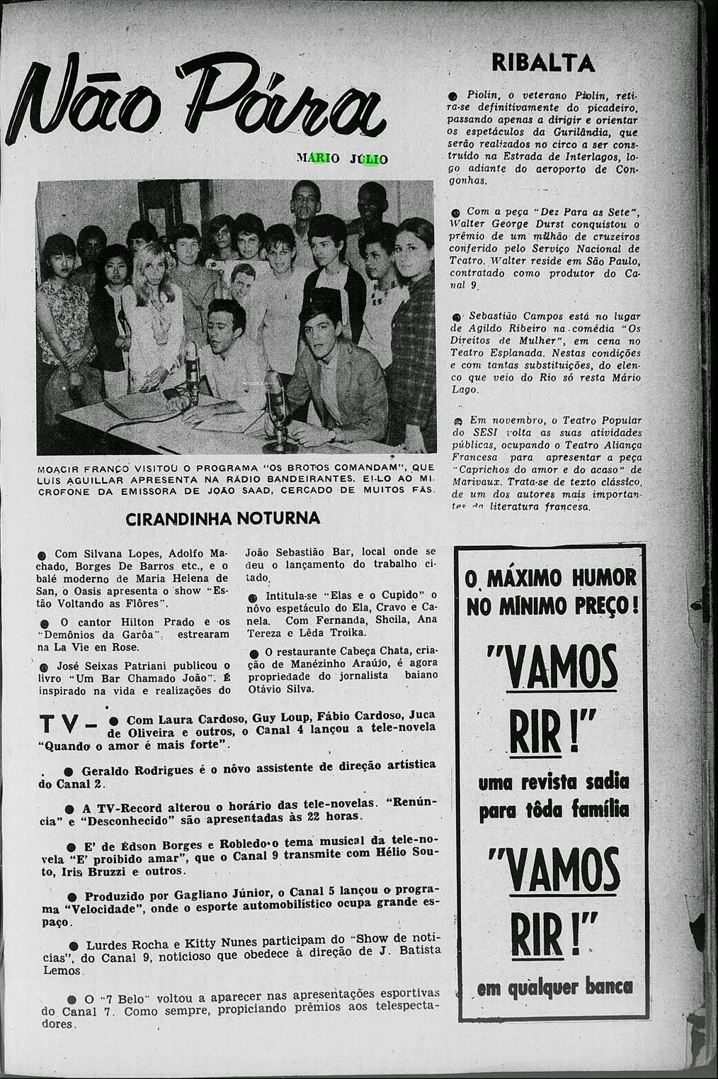 Sao Paulo in the 40s, 50s & 60s : 1965 Radio stations